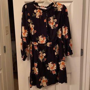 Loft floral long sleeve dress Medium